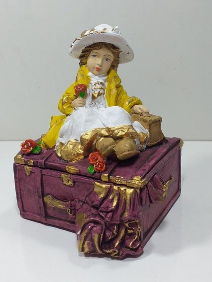 Mini Porta Jóias De Menina Estilo Colonial Para Decoração