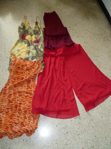 Vestido Y Falda Pantalón De Fiesta