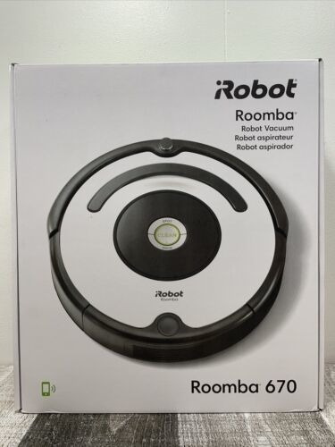 Irobot Roomba 670 Aspiradora Robótica Negra Nuevo + Envío...