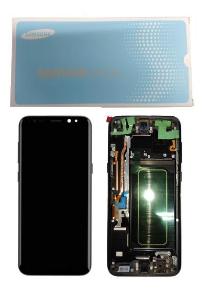Frontal Tela Touch Display Galaxy S8 + Plus G955 Aro Origi.