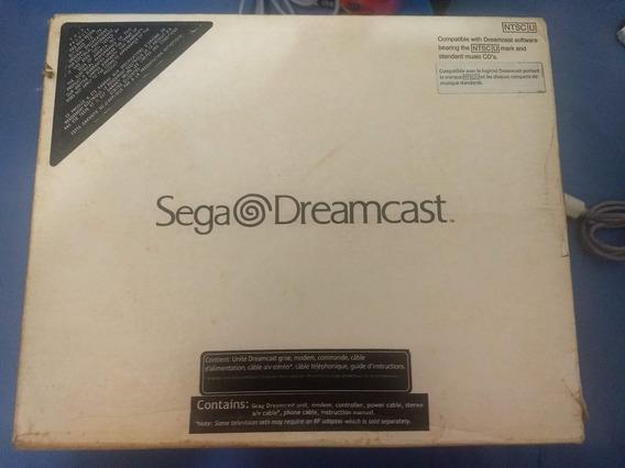 Sega Dreamcast Na Caixa + Manual + 2 Controles + Vmu + Jogos