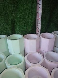 Macetas Cemento Colores Suculentas Cactus Velas Recuerdos
