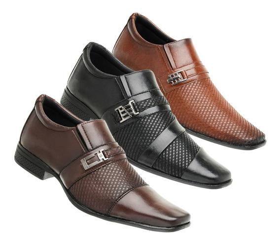 Kit 3 Pares Sapato Masculino Lançamento Ref- Cap No 0 4