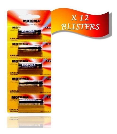 Pila Batería Alcalina 23 A 12 V Motoma Pack 12 Blisters 60u