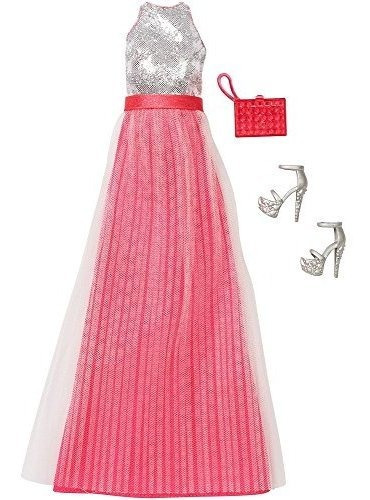 Barbie Fashion - Gone Glam Pink - Vestido De Plata Con Zapat
