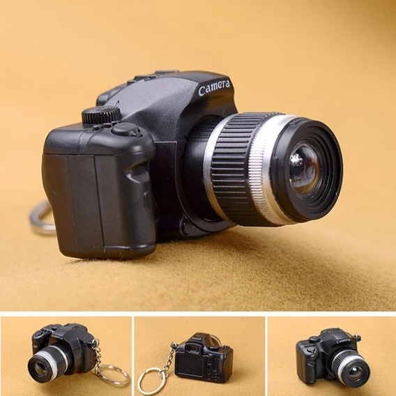 Chaveiro Câmera Fotográfica (com Led E Som Disparo)cor Preta