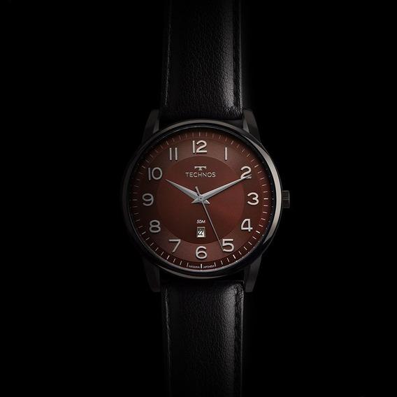 Relógio Technos Masculino Clássico Com Pulseira De Couro