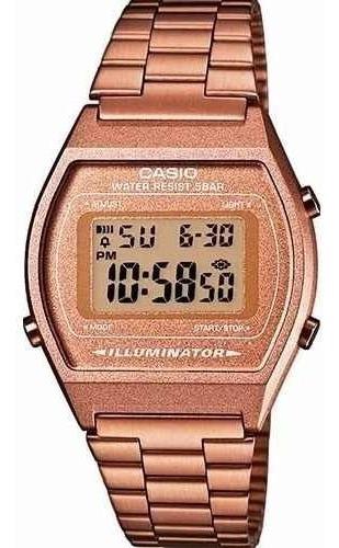 Relógio Casio Vintage B640 Rose Cobre Alerta Piscante Timer