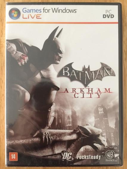 Jogo Pc Dvd - Batman Arkham City (2011) - Novo Lacrado!!!