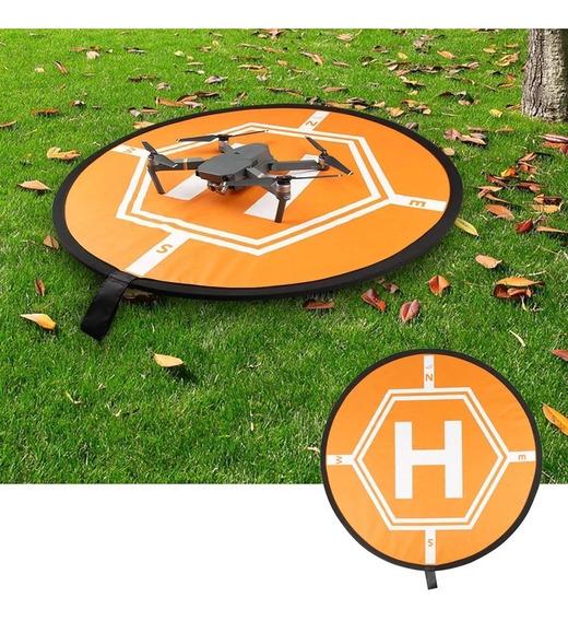 Pista De Pouso Pad 80cm Para Drones Faixa Refletiva Noturno