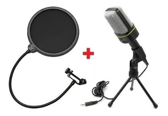 **kit** Pop Filter + Microfone C/fio Condensador Sf-666