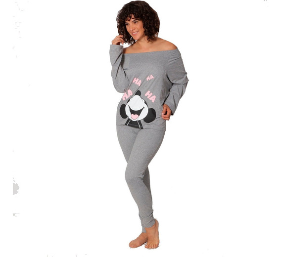 Pijama Mujer Minnie Mouse Legging Blusa Manga Larga 9249