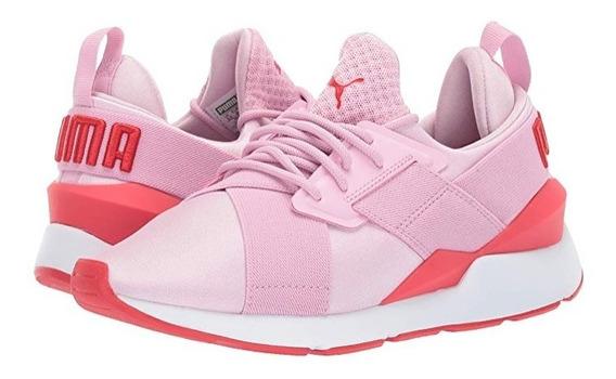 Tenis Sneakers Puma Muse Niñas Originales Rosa