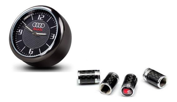 Acessorios Audi Relogio E Kit Tampa Bico Dos Pneus Oferta