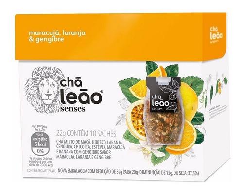Chá Leão Senses - Maracujá, Laranja E Gengibre 10 Saches