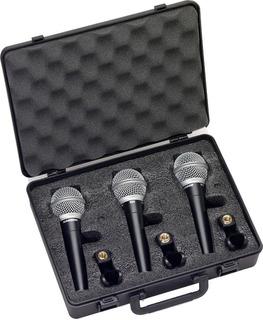 Microfono Samson R21 Set De 3 Con Estuche Y Pipetas