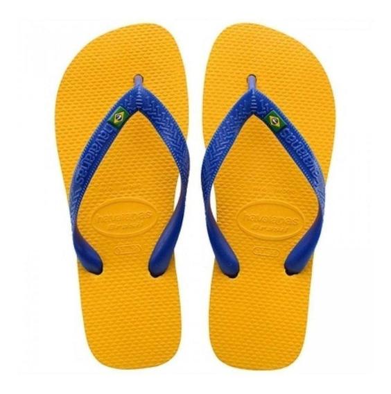 Havaianas Infantil Brasil - Amarelo Banana 33/34