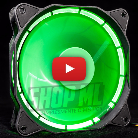 Cooler Fan Pc Gamer 120mm Led Verde Ventoinha Dx-12f