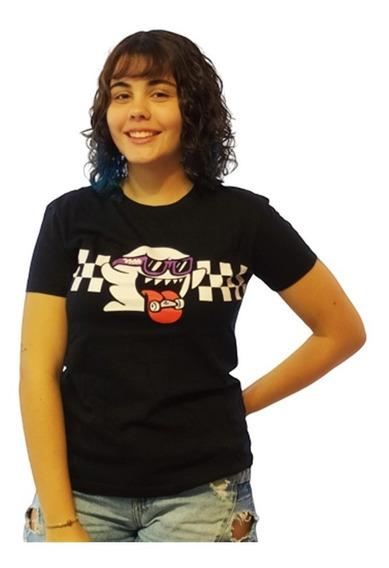 Camiseta Baby Look 3-girls Ghost Gola Preta