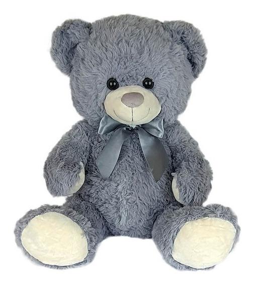 Urso De Pelúcia 46cm Cinza