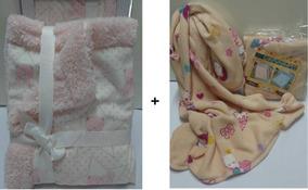 Kit Edredom Cobertor Carneirinho + Manta Jolitex Bebe Menina