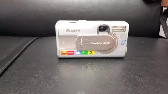 Câmera Fotográfica Canon Powershot A310 Com Acessórios