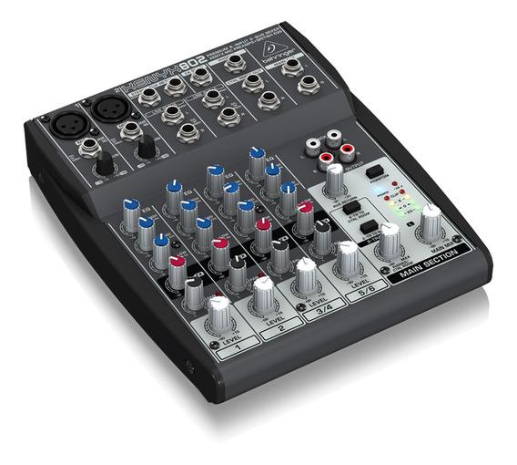 Mixer 8 Canais Behringer Xexyx 802 127v Mesa Som Xenyx802