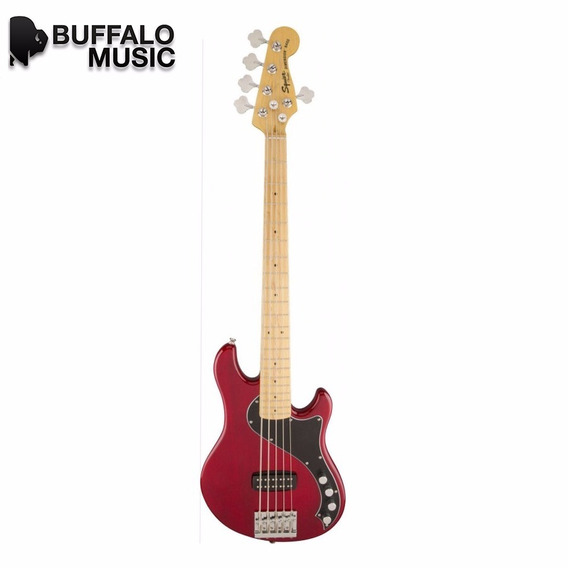 Squier Deluxe Dimension Bass V Crimson Red 030-1502-538
