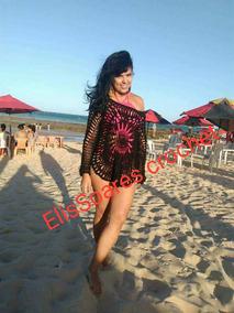 Saida De Praia E Crochê De Grampo Veste Do 38 Ao 42