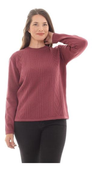 Pullover De Mujer Manga Larga Sweater Con Trenzas 3001