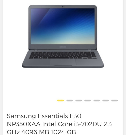 Notebook Samsung 350x