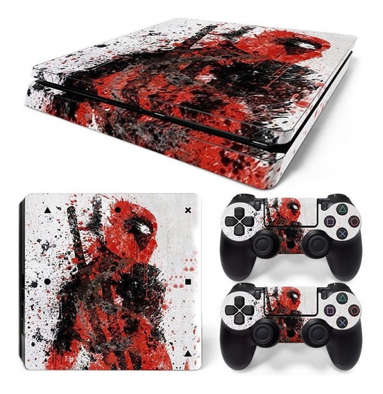 Ps4 Slim Skin Estampas Para Playstation 4 Slim Envío Gratis