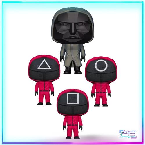 Imagen 1 de 5 de Juego Del Calamar Pack 4 Personajes Custom Pop