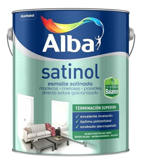 Satinol Esmalte Satinado Al Agua Blanco 20 Lt - Sagitario