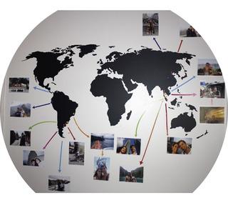 Vinilos Decorativos Planisferio Mapa Fotos Viajes