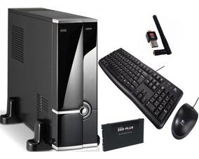 Mini Pc Desktop Intel Core I5 8gb Ddr3 Hd 120gb Ssd + Wifi!