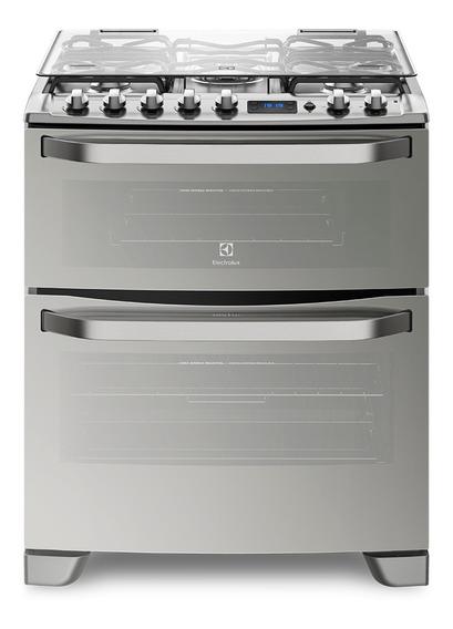 Cocina Electrolux 76XDR 5 multigas acero inoxidable puerta visor 125.1L