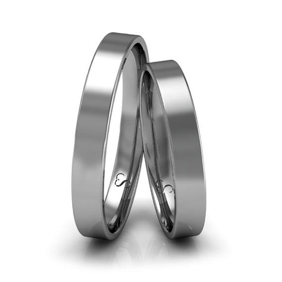 Alianças Casamento Ouro Branco Polidas 3mm 3g
