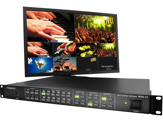Misturador Mixer De Vídeo Roland Mvs12 Multi-tela 12 Canais