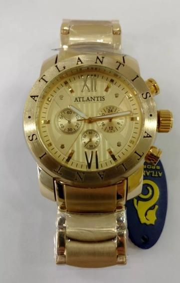 Relógio Atlantis Original A3310 Todo Em Aço
