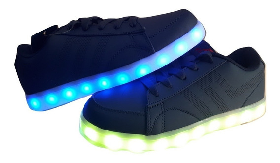 Zapatillas Con Luces Led Color Azul Recargables Envio
