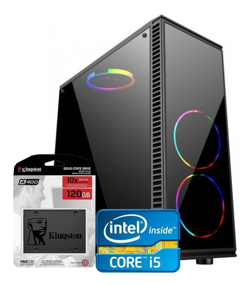 Cpu Pc Gamer Barato Core I5 3470 3.6ghz 4gb Ssd 120gb Wifi