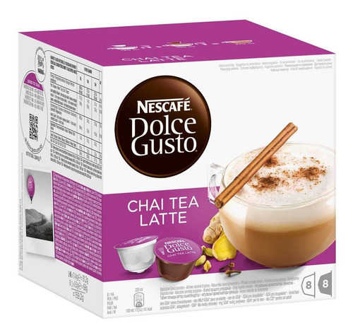 Imagen 1 de 6 de Pack 48 Capsulas Chai Tea Latte Dolce Gusto! X2 Envio Gratis