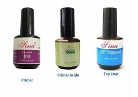 Kit Top Coat Primer Gel E Primer Acid Lina Oferta