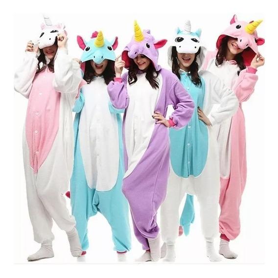 Pijama Unicornio Kigurumi Cosplay Adultos Niños 5 Diseños