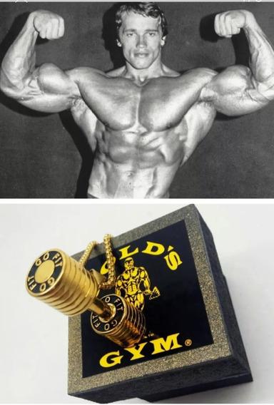 Colar Golds Gym,maromba,musculacao,academia,monstro,c/caixa,lindo,arnold