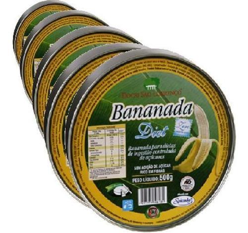 Kit 5 Bananada Diet Sao Lourenco 500g