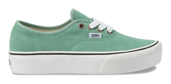 Zapatillas Vans Mod Authentic Plataforma Verde