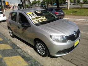 Renault Sandero 1.0 Authentique Hi-flex 2016 Completo