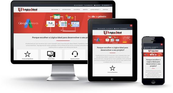 Criação De Sites Institucionais Responsivo E Moderno